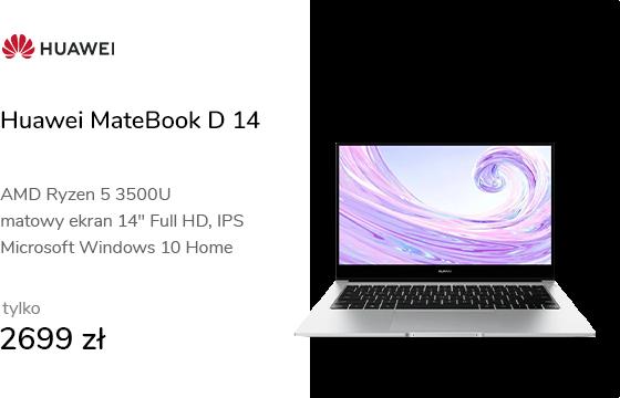 Huawei MateBook D 14 R5-3500/8GB/256/Win10 srebrny