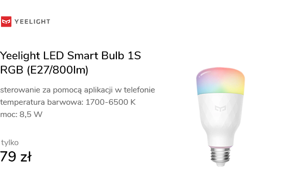 Yeelight LED Smart Bulb 1S RGB (E27/800lm)