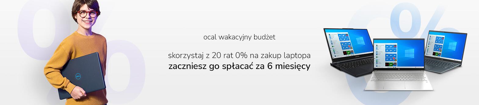 20 rat 0% na laptopy
