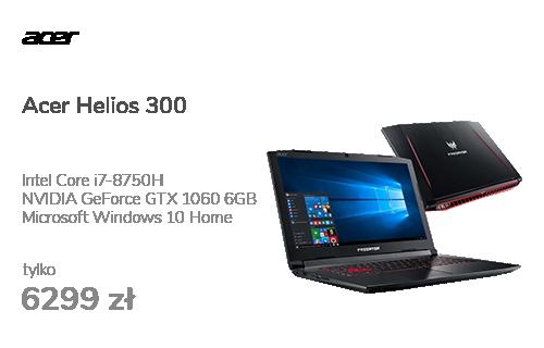 Acer Helios 300 i7-8750H/16GB/240+1000/Win10 GTX1060