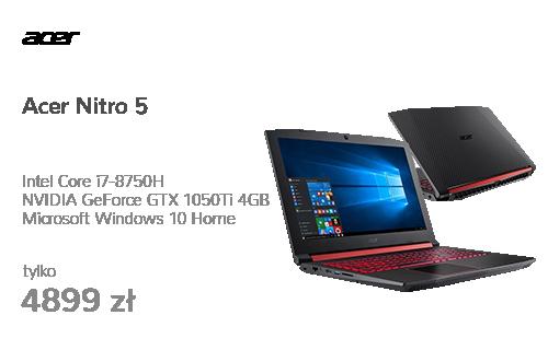 Acer Nitro 5 i7-8750H/16GB/240+1000/Win10 GTX1050Ti FHD