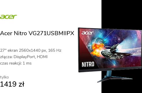 Acer Nitro VG271USBMIIPX czarny HDR 165Hz