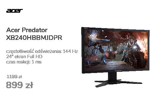 Acer Predator XB240HBBMJDPR czarny