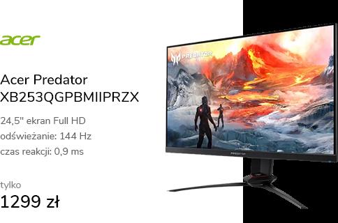 Acer Predator XB253QGPBMIIPRZX czarny HDR400