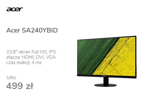 Acer SA240YBID czarny