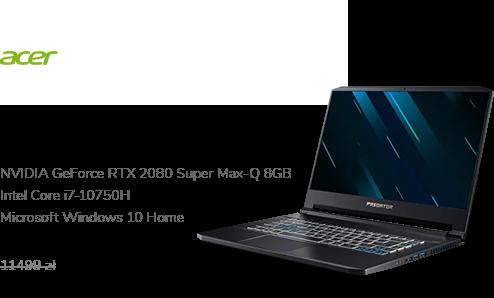 Acer Triton 500 i7-10750H/32GB/1TB/W10X RTX2080 30