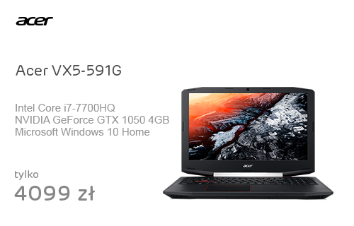 Acer VX5-591G i7-7700HQ/8GB/1000/Win10 GTX1050