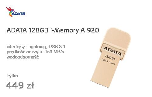 ADATA 128GB i-Memory AI920 gold (USB 3.1+Lightning)