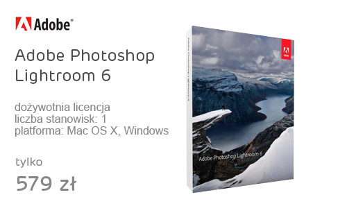 Adobe Photoshop Lightroom 6 WIN/MAC ENG Box
