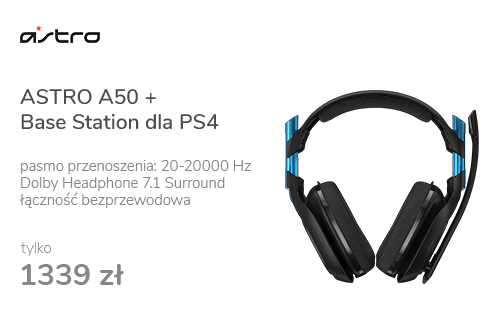 ASTRO A50 + Base Station dla PS4