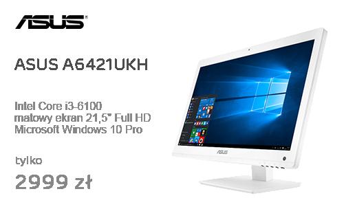 ASUS A6421UKH i3-6100/4GB/1TB/DVD/Win10P FHD Biały