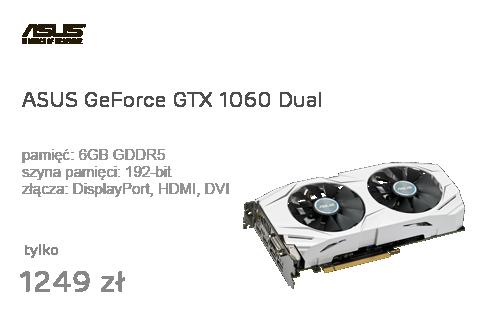 ASUS GeForce GTX 1060 Dual 6GB GDDR5
