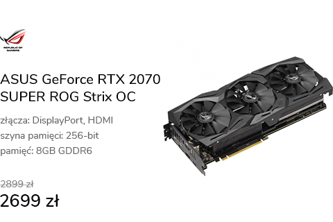 ASUS GeForce RTX 2070 SUPER ROG Strix OC 8GB GDDR6