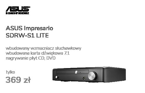 ASUS Impresario SDRW-S1 LITE + karta dźwiękowa 7.1