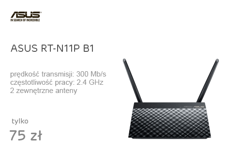 ASUS RT-N11P B1 (300Mb/s b/g/n, 4xSSID, repeater)