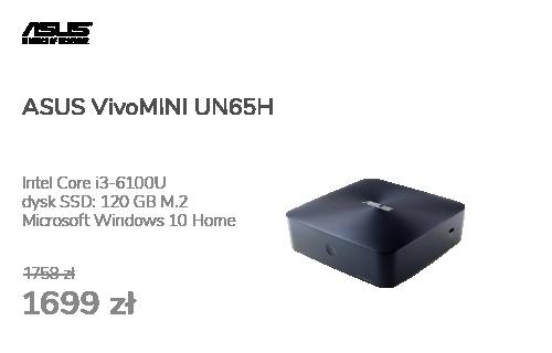 ASUS VivoMINI UN65H i3-6100U/4GB/120SSD/W10X + Norton