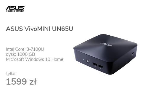 ASUS VivoMINI UN65U i3-7100U/4GB/1TB/Win10