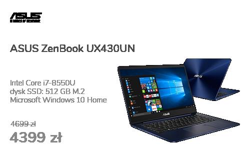 ASUS ZenBook UX430UN i7-8550U/8GB/512SSD/Win10 MX150