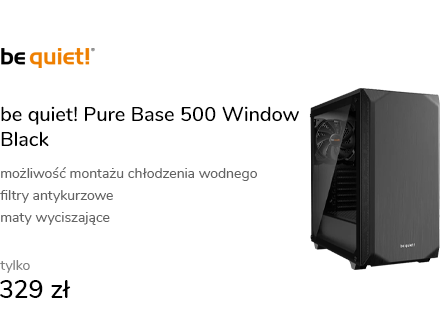 be quiet! Pure Base 500 Window Black