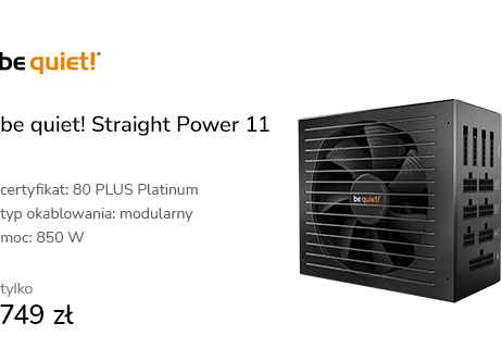 be quiet! Straight Power 11 850W 80 Plus Platinum