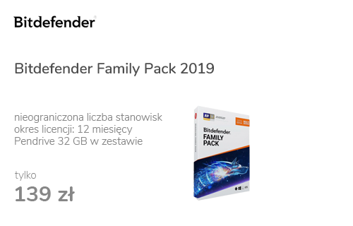 Bitdefender Family Pack 2019 (12m.) Unlimited + Pendrive 32GB