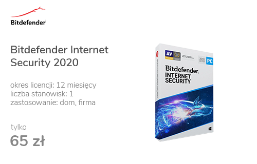 Bitdefender Internet Security 2020 1st. (12m.) ESD