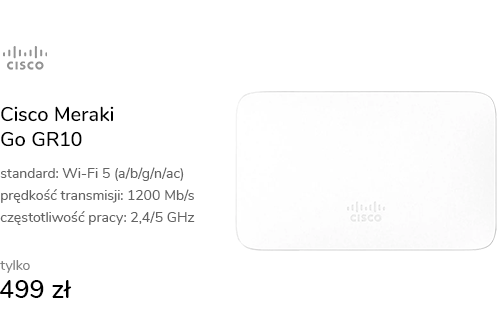 Cisco Meraki Go GR10 wewnętrzny 1200Mb/s Gigabit P