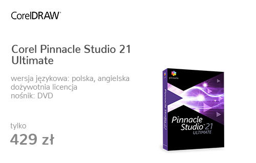 Corel Pinnacle Studio 21 Ultimate PL/ML DVD BOX