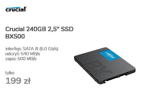 "Crucial 240GB 2,5"" SATA SSD BX500"