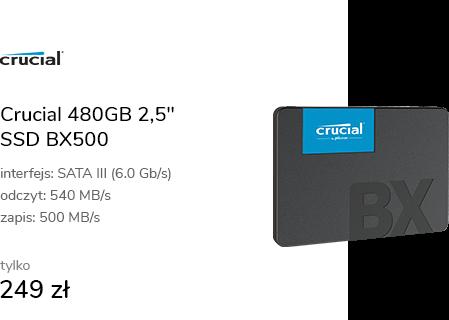 "Crucial 480GB 2,5"" SATA SSD BX500"
