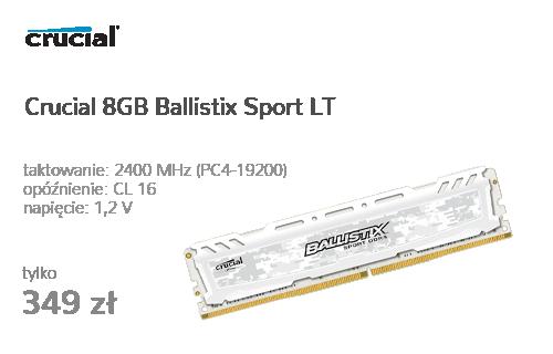 Crucial 8GB 2400MHz Ballistix Sport LT CL16