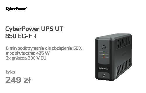 CyberPower UPS UT 850 EG-FR (850VA/425W) (3xFR)