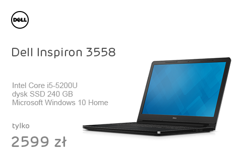 Dell Inspiron 3558 i5-5200U/8GB/240+500/Win10 GF920M