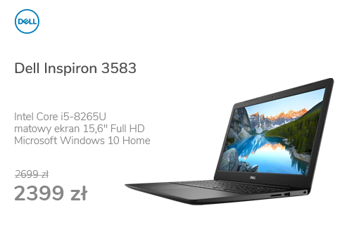 Dell Inspiron 3583 i5-8265U/8GB/256/Win10 Czarny