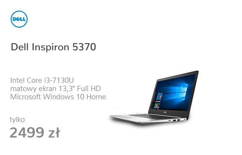 Dell Inspiron 5370 i3-7130U/8GB/128/Win10 FHD