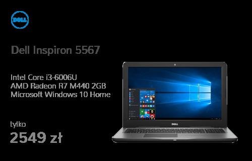 Dell Inspiron 5567 i3-6006U/8GB/256/Win10 R7 FHD