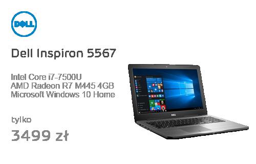 Dell Inspiron 5567 i7-7500U/8GB/256/Win10 R7 FHD