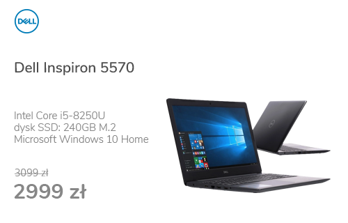 Dell Inspiron 5570 i5-8250U/8GB/240+1000/Win10 FHD