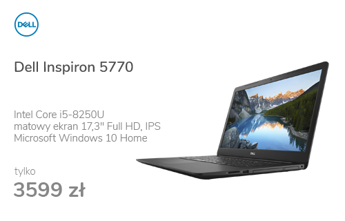 Dell Inspiron 5770 i5-8250U/8G/240+1000/Win10 R530