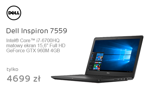 Dell Inspiron 7559 i7-6700HQ/16GB/256+1000/Win10 GTX960