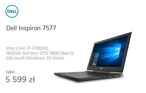 Dell Inspiron 7577 i7-7700/16G/256+1000/Win10 GTX1060