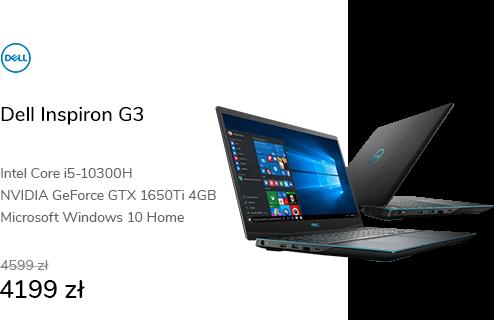 Dell Inspiron G3 i5-10300H/16GB/1TB/W10 GTX1650Ti