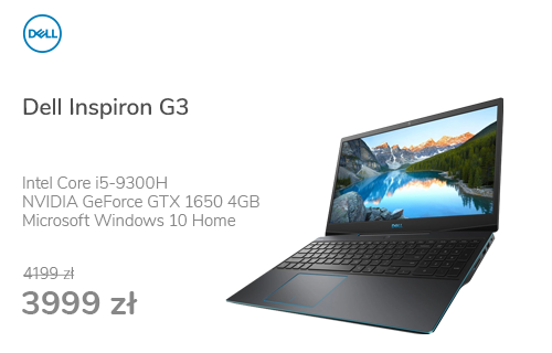 Dell Inspiron G3 i5-9300H/8GB/512/Win10 GTX1650