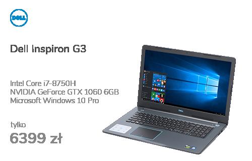 Dell Inspiron G3 i7-8750H/16GB/256+2000/10Pro GTX1060