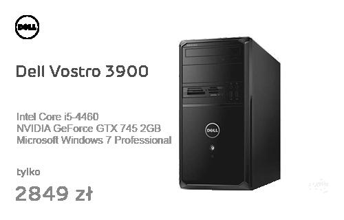 Dell Vostro 3900 i5-4460/8GB/240+1000/7Pro GTX745