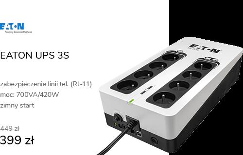 EATON UPS 3S (700VA/420W 8x FR, USB)