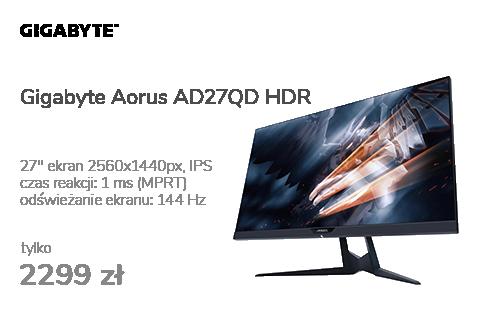 Gigabyte Aorus AD27QD czarny HDR