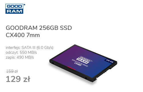 GOODRAM 256GB 2,5'' SATA SSD CX400 7mm