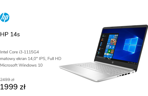 HP 14s i3-1115G4/8GB/256/Win10 IPS