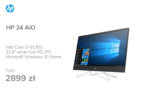 HP 24 AiO i3-8130U/8GB/240/Win10 IPS MX110